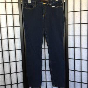 Michael Kors Blue Dark Rinse Skinny Jeans